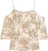 Bailey 44 Cold-shoulder printed crepe top