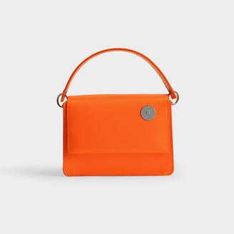 Kara Baby Pinch Shoulder Bag In Orange Polished Calfskin