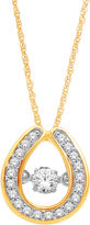 JCPenney FINE JEWELRY Love in Motion 1/5 CT. T.W. Diamond 10K Yellow Gold Teardrop Pendant Necklace