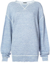 R 13 raw edges sweatshirt