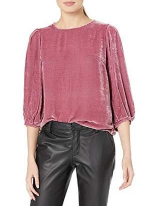 Velvet by Graham & Spencer Women's Brenda Silk Velvet Blouse