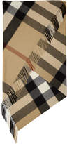 Burberry Tan and Black Mega Check Blanket