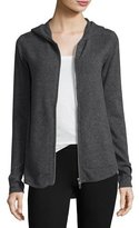 ATM Anthony Thomas Melillo Cashmere-Blend Zip Front Hooded Jacket