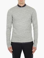 Officine Generale Grey Fleece Sweatshirt