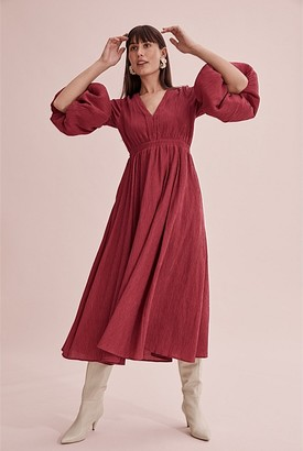 Country Road Blouson Sleeve Dress