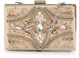 Forever Unique Jewel Embellished Hard Box Clutch