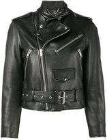 Balenciaga Scarf biker jacket - women - Leather - 42