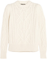 Isabel Marant Gayle Cable-knit Alpaca-blend Sweater - Ecru