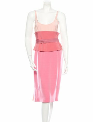 Narciso Rodriguez Silk Dress w/ Tags Pink