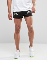 Hype Retro Shorts In Souvenir Print
