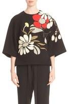 Marni Women's Embellished Floral Applique Bonded Top
