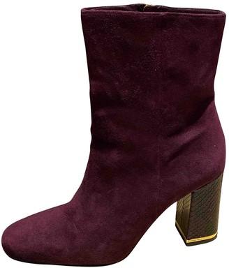 Michael Kors Purple Suede Boots