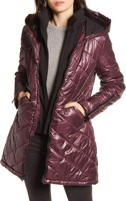Maralyn & Me Water-Resistant Quilted Hooded Jacket