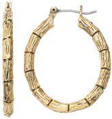 Dana Buchman Textured Bamboo Nickel Free Hoop Earrings