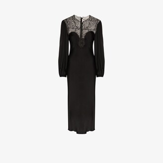 Christopher Kane Lace Yoke Midi Dress