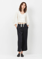 J.W.Anderson white front tie knot top