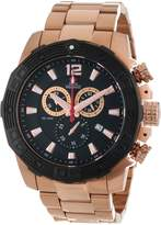 Rosegold Swiss Precimax Men's SP13268 Legion Reserve Pro Black Dial with Rose- Stainless Steel Band Watch