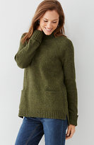 J. Jill Tweed Mock-Neck Sweater