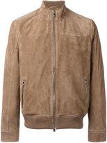 Corneliani zipped jacket - men - Cotton/Leather/Polyester - 52