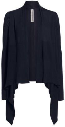 Rick Owens New Wool Wrap Knit Cardigan