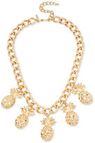 INC International Concepts M. Haskell for Gold-Tone Pineapple Charm Necklace, Only at Macy's