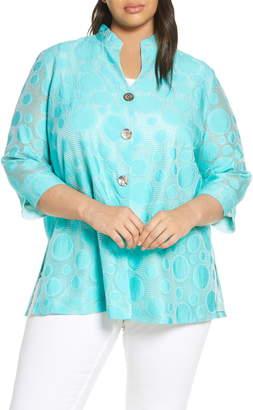 Ming Wang Dot Jacquard Jacket