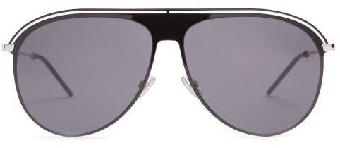 Christian Dior Sunglasses - Aviator Metal Sunglasses - Mens - Black