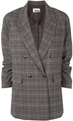 Izzue Plaid Double-Breasted Jacket