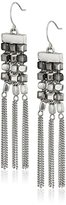 """Kenneth Cole New York City Scape"""" Woven Mixed Bead and Fringe Chandelier Drop Earrings"""