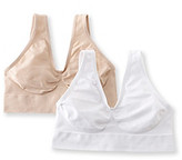 Barely There Barelythere® White/Soft Taupe CustomFlex Fit® Get Cozy 2 Pack Bras