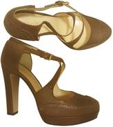 Max Mara brown heeled brogue sh.