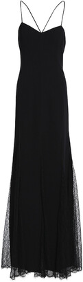 Michael Kors Collection Lace-paneled Wool-blend Gown
