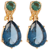 Carolee Two-Tone Double Drop Clip-On Earrings