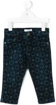 Versace logo print jeans