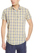 U.S. Polo Assn. Men's Short Sleeve Spread Collar Plaid Sport Shirt