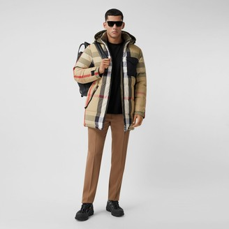 Burberry Reversible Check Recycled Nylon Puffer Jacket