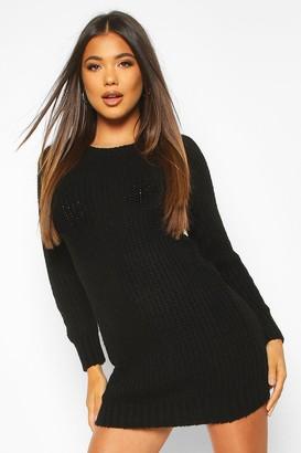 boohoo Soft Knit Sweater Dress
