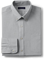Classic Men's Tall Tailored Fit Long Sleeve Buttondown Oxford Shirt-White