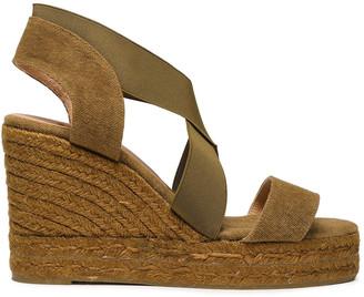 Castaner Bambu Canvas Espadrille Wedge Sandals