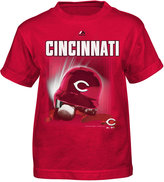 Majestic Little Boys' Cincinnati Reds Kinetic Helmet T-Shirt