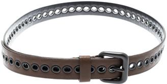 Bottega Veneta Brown Ring Hole Leather Belt 85CM