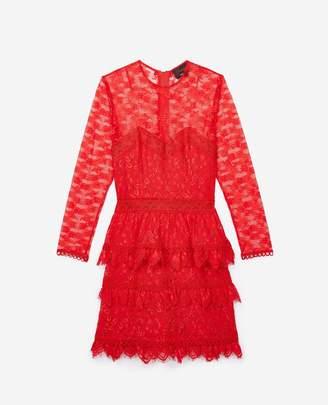 The Kooples Red lace mini dress