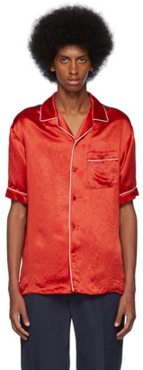 Gucci Red Print Back Bowling Shirt