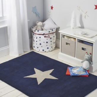 The White Company Star Tufted Rug, Navy, One Size