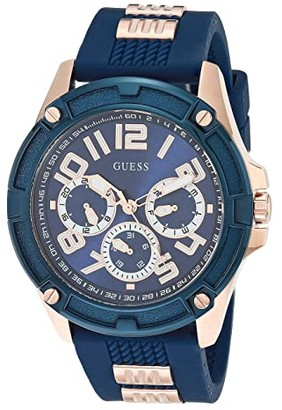 GUESS GW0051G3 (Blue/Rose Gold-Tone) Watches