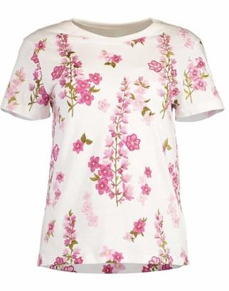 Giambattista Valli Ivory Short Sleeve Floral T-Shirt