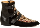 Isabel Marant Rowi calf-hair, leather and suede ankle boots