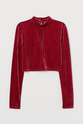H&M Top with a stand-up collar