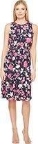 Ellen Tracy Women's Smocked Self-Tie Dress