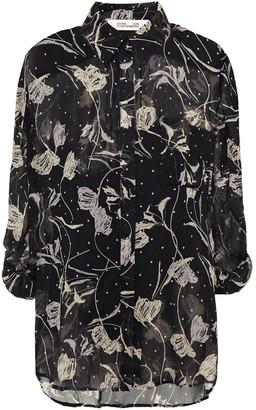 Diane von Furstenberg Lorelei Floral-print Crepon Shirt
